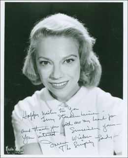 IREENE WICKER - AUTOGRAPHED INSCRIBED PHOTOGRAPH