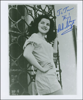 DEBRA PAGET - AUTOGRAPHED INSCRIBED PHOTOGRAPH