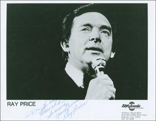 RAY PRICE - AUTOGRAPHED INSCRIBED PHOTOGRAPH