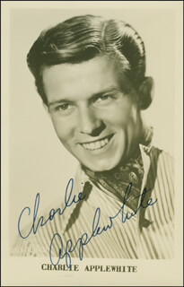 CHARLIE APPLEWHITE - PICTURE POST CARD SIGNED