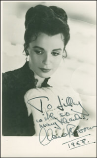 CLAIRE BLOOM - AUTOGRAPHED INSCRIBED PHOTOGRAPH 1958