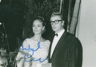 MICHAEL CAINE - AUTOGRAPHED SIGNED PHOTOGRAPH CIRCA 1975