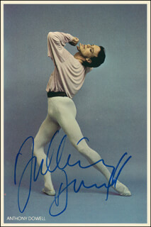 ANTHONY DOWELL - AUTOGRAPHED SIGNED PHOTOGRAPH