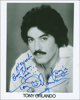 TONY ORLANDO - AUTOGRAPHED INSCRIBED PHOTOGRAPH