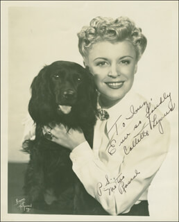 COLLETTE LYONS - AUTOGRAPHED INSCRIBED PHOTOGRAPH
