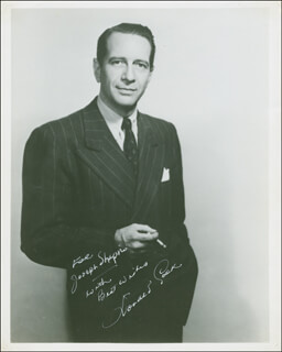 DONALD COOK - AUTOGRAPHED INSCRIBED PHOTOGRAPH