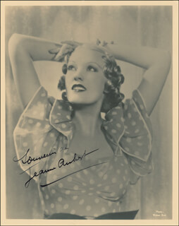 Autographs: JEANNE AUBERT - PHOTOGRAPH SIGNED