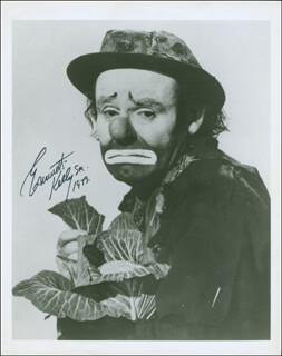 EMMETT KELLY SR. - AUTOGRAPHED SIGNED PHOTOGRAPH 1973