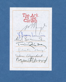 MARGARET ELEANOR ATWOOD - BOOK PLATE SIGNED CO-SIGNED BY: YVES BEAUCHEMIN, NEIL BISSOONDATH, TIMOTHY FINDLEY, ROHINTON MISTRY, JANE URQUHART, ANGEL MANGUEL
