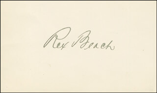 Autographs: REX BEACH - SIGNATURE(S)