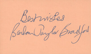 BARBARA TAYLOR BRADFORD - AUTOGRAPH SENTIMENT SIGNED