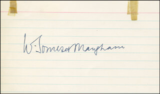 W. SOMERSET MAUGHAM - AUTOGRAPH