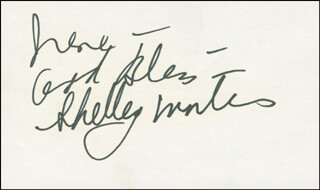 SHELLEY WINTERS - AUTOGRAPH NOTE SIGNED
