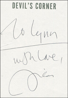 LISA SCOTTOLINE - INSCRIBED BOOK PAGE SIGNED