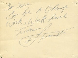 JOE SMOKIN JOE FRAZIER - AUTOGRAPH NOTE SIGNED