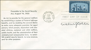Autographs: WILBUR J. COHEN - FIRST DAY COVER SIGNED