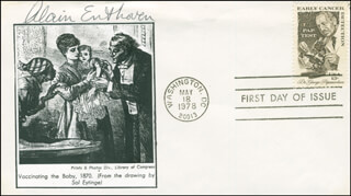 ALAIN ENTHOVEN - FIRST DAY COVER SIGNED