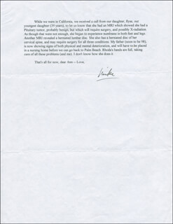 Autographs: MEYER L. J. ROSS DONAHUE ABRAMS - TYPED LETTER SIGNED 10/19/1994