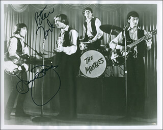 THE MONKEES - AUTOGRAPHED SIGNED PHOTOGRAPH CO-SIGNED BY: THE MONKEES (DAVY JONES), THE MONKEES (PETER TORK)