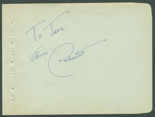 EDDIE ROCHESTER ANDERSON - AUTOGRAPH NOTE SIGNED