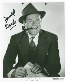 DONALD WOODS - AUTOGRAPHED SIGNED PHOTOGRAPH