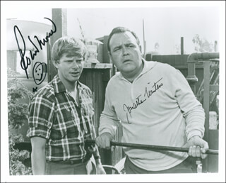 THE LOVED ONE MOVIE CAST - AUTOGRAPHED SIGNED PHOTOGRAPH CO-SIGNED BY: JONATHAN WINTERS, ROBERT MORSE