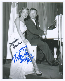 THE STRIP MOVIE CAST - AUTOGRAPHED SIGNED PHOTOGRAPH CO-SIGNED BY: MICKEY ROONEY, MONICA LEWIS