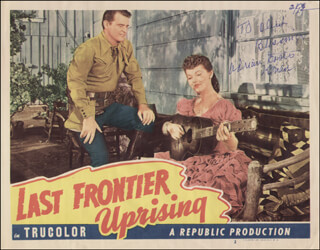 ADRIAN (LORNA GRAY) BOOTH - INSCRIBED LOBBY CARD SIGNED