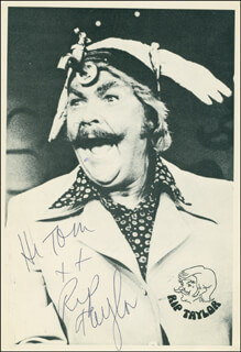 RIP TAYLOR - AUTOGRAPHED INSCRIBED PHOTOGRAPH