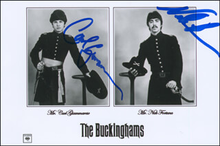 THE BUCKINGHAMS - AUTOGRAPHED SIGNED PHOTOGRAPH CO-SIGNED BY: THE BUCKINGHAMS (NICK FORTUNA), THE BUCKINGHAMS (CARL GIAMMARESE)