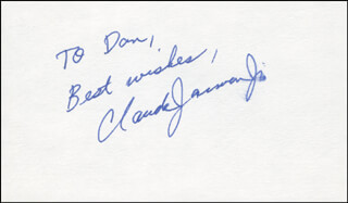 CLAUDE JARMAN JR. - AUTOGRAPH NOTE SIGNED