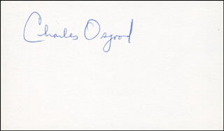 CHARLES OSGOOD - AUTOGRAPH