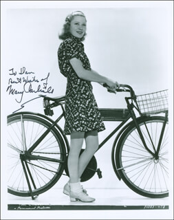 MARY CARLISLE - AUTOGRAPHED INSCRIBED PHOTOGRAPH