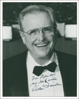 WILLIAM DANIELS - AUTOGRAPHED INSCRIBED PHOTOGRAPH