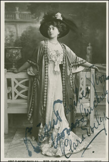CLARA EVELYN - AUTOGRAPHED INSCRIBED PHOTOGRAPH