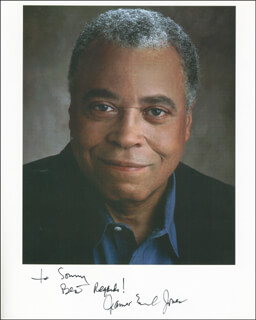 JAMES EARL JONES - AUTOGRAPHED INSCRIBED PHOTOGRAPH