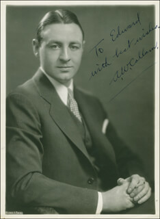 ALEXANDER W. CALLAM - AUTOGRAPHED INSCRIBED PHOTOGRAPH