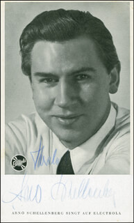 ARNO SCHELLENBERG - AUTOGRAPHED SIGNED PHOTOGRAPH