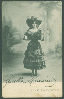 GISELDA MOROSINI - PICTURE POST CARD SIGNED