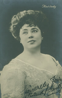 MAUD SANTLEY - AUTOGRAPHED SIGNED PHOTOGRAPH CIRCA 1911