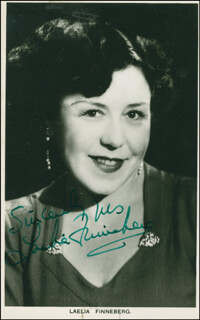 LAELIA FINNEBERG - AUTOGRAPHED SIGNED PHOTOGRAPH