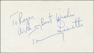 TOMMY LEONETTI - AUTOGRAPH NOTE SIGNED