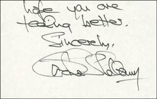 CAROLE SHELLEY - AUTOGRAPH SENTIMENT SIGNED