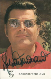 GERHARD WENDLAND - AUTOGRAPHED SIGNED PHOTOGRAPH