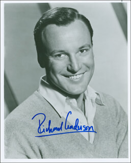 RICHARD ANDERSON - AUTOGRAPHED SIGNED PHOTOGRAPH