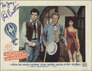 RED BUTTONS - INSCRIBED LOBBY CARD SIGNED