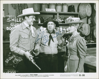 SMILEY (LESTER) BURNETTE - PRINTED PHOTOGRAPH SIGNED IN INK