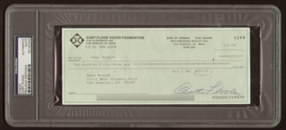 CURT FLOOD - AUTOGRAPHED SIGNED CHECK