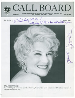 HILDEGARDE - INSCRIBED MAGAZINE COVER SIGNED