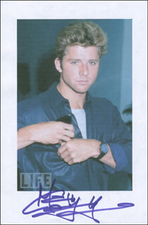 MAXWELL CAULFIELD - PRINTED PHOTOGRAPH SIGNED IN INK